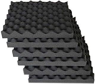 """2""""x12""""x12"""" Egg Crate Foam Acoustic Foam Tiles Soundproofing Foam, 6 Pack"""