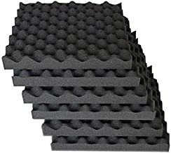 6 Pack egg crate foam acoustic foam tiles soundproofing foam panels sound insulation soundproof foam padding sound dampening Studio sound proof padding 1.5