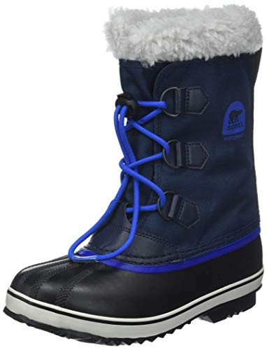 Unisex kinderen Sorel jeugd Pac Nylon sneeuw waterdichte bont gevoerde enkellaarsjes - Collegiate Navy - Super Blue - 1