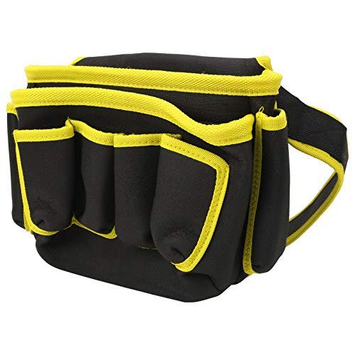 Bolsa de almacenamiento de herramientas bBag de electricista duradera, para fontanero, para acampar(Yellow edge)