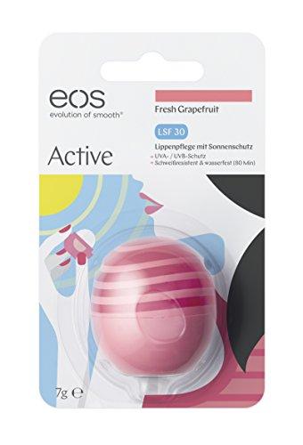 EOS Active Lip Balm Fresh Grapefruit LSF 30, Lippenpflege mit Sonnenschutz - Lippen-Stift