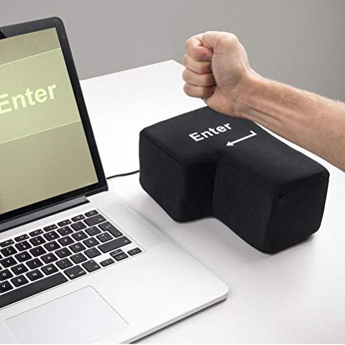 Big Enter Key, Kissen mit Unbreakable, Office Stress Relief Vent Tools, Nickerchen Kissen für Freunde und Familie