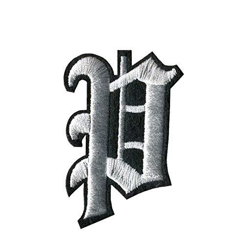 Patch Sticker 3Pcs A-Z Negro Blanco 5 Cm De Alto Alfabeto Inglés Letras Mezcladas Bordado Coser En Insignia Parche De Hierro Para Bolsa De Ropa Inglés Antiguo-Pag