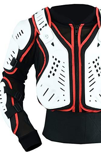 Texpeed - Kinder Motorradjacke für Motocross/Enduro/Sport mit Protektoren - 128cm - 8 Jahre