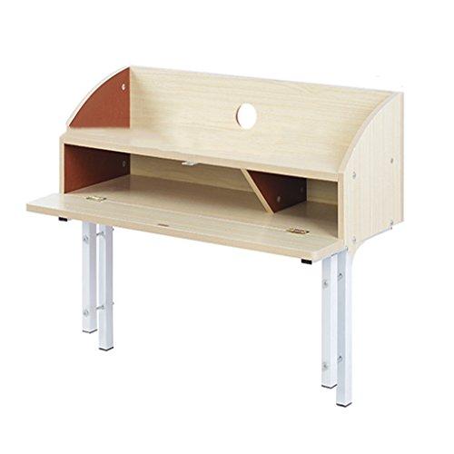 Bureau d'ordinateur Dortoir créatif Bureau d'ordinateur Table de chevet supérieure Dortoir Lit de camp Table de chevet Table d'appoint Lit de dortoir Couverts Économiser de l'espace ( Color : Pink )