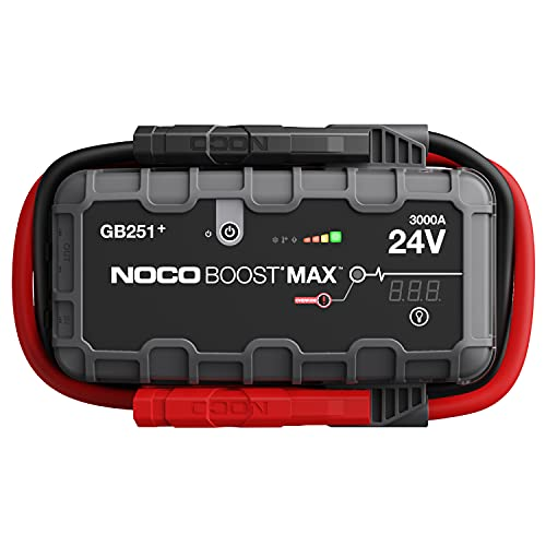 NOCO Boost Max GB251 3000 Amp 24-Volt UltraSafe Portable Lithium Jump Starter Box, Battery Booster Pack, and Commercial Jumper Cables for Gasoline and Diesel Engines Up to 32-Liters