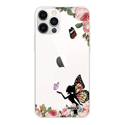 Carcasa para iPhone 12/12 Pro, diseño de Hada, Mariposa, Flores