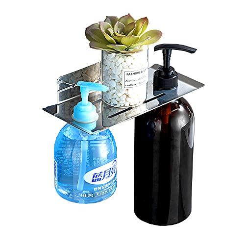 BiJun Dosificador Jabon Cocina,Soporte dispensador jabón,estantes botellas, soporte plato de jabón montado pared, organizador almacenamiento esponja para ducha y baño, soporte mano bomba ducha baño