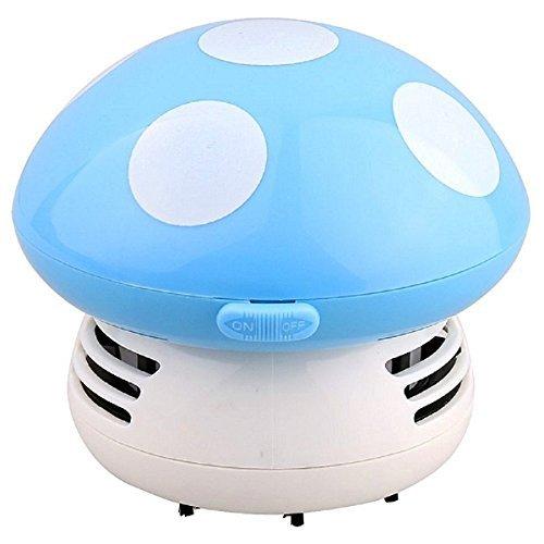Lesley Pierce Mignon Champignon Mini Aspirateur pour Nettoyer Poussière Table/Bureau/Coussin/Voiture - Violet (bleu)