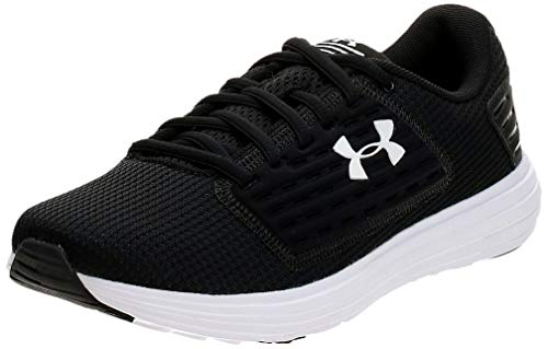 Under Armour Women's Surge Special Edition Running Shoe, Black (001)/White, 5