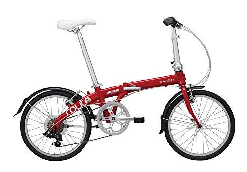 ダホン ルート 2021年モデル route 7段変速 20インチ DAHON ルビーレッド 折りたたみ自転車 ダホーン 折り畳み自転車 おりたたみ自転車 コンパクト自転車 ミニベロ