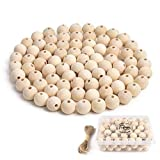 Hagao Natural Wood Beads Round Ball Wooden Loose Beads Unfinished Wood Spacer Beads for Craft-Making 100pcs (20mm)