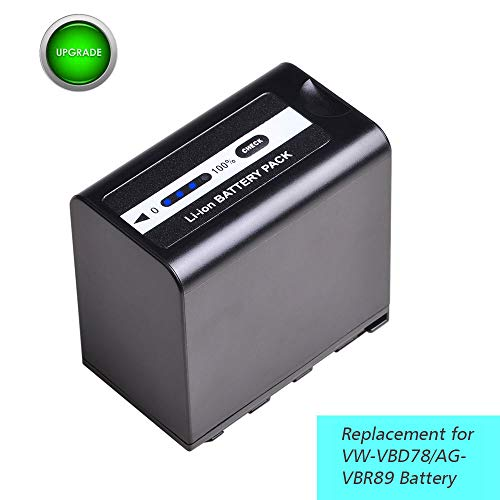 VW-VBD78 AG-VBR89 1PCS 8400mAh 7.4V VW-VBD58 VW-VBD98 Battery Replacement for Panasonic VBD78 VBR89 AG-HVX200 AG-HVX201 AJ-PCS060 AJ-PX270 AJ-PX298 AJ-UX180 AJ-UX90 HC-MDH2 HC-X1000 HDC-Z10000 Camera.