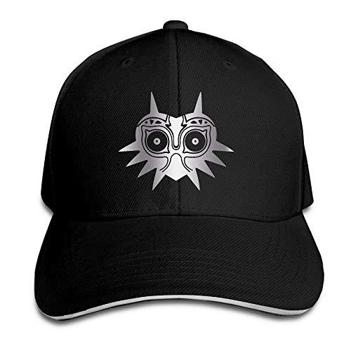 asegybbb Legend of Zelda Majora Platinum Style Flex Baseball Cap Black Black