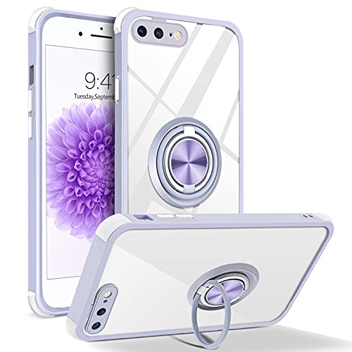 BENTOBEN iPhone 8 Plus Case, iPhone 7 Plus Case, Heavy Duty Protective Case | 360° Double Ring Holder Kickstand | Magnetic Car Mount | Compatible with Apple iPhone 8/7 Plus 5.5 Inch, Purple