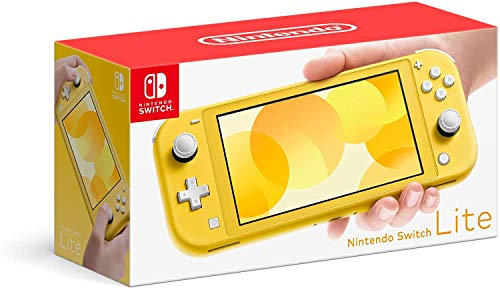 Newest Nintendo Switch Lite Game Console, 5.5 inch LCD Touchscreen, Built-in Plus Control Pad, Speakers, 3.5mm Audio Jack, Speakers, with CUE 128GB Micro SD Card (Yellow)