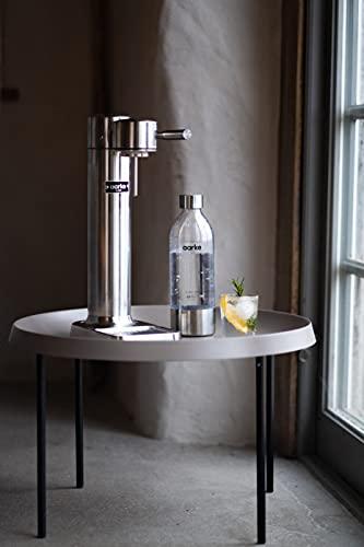 Aarke Carbonator 3 - Gasatore d'Acqua, Acciaio, Bottiglia in PET inclusa, compatibile con cartucce di CO2 da 425g/60L, Polished Steel