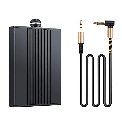 WWMH Amplificador de Auriculares  768k/32bit Ak4462dac con TecnologíA THX Amp para TeléFono MóVil Y Pccon Fuente de AlimentacióN, Negro