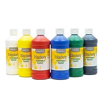 Handy Art Little Masters Tempera Paints Set 16 oz Pack of 6 .