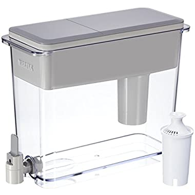 Brita Large 18 Cup UltraMax Water Dispenser and Filter - BPA Free - Gray
