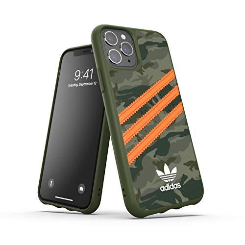 adidas Funda diseñada para iPhone 11 Pro, Fundas probadas a Prueba de caídas, Bordes elevados, Carcasa Original Moldeada, diseño de Camuflaje y Naranja