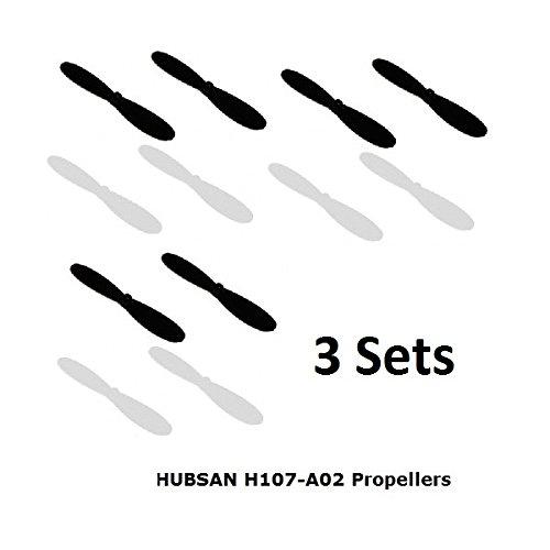 3 x Ersatz Propeller für Hubsan X4 H107 H107-A02