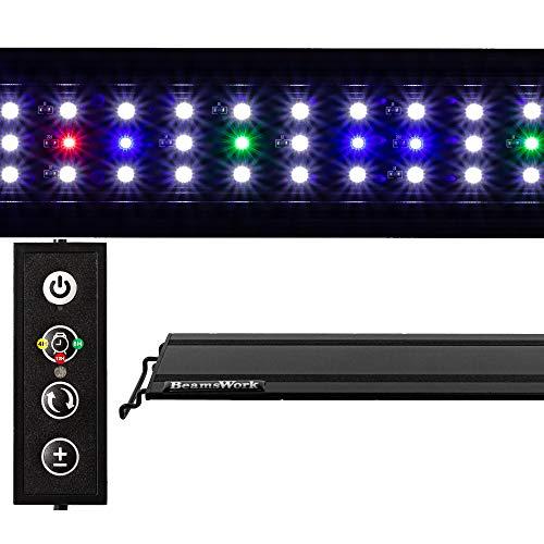 BeamsWork Vivio Full Spectrum LED Timer Adjustable Dimmer Aquarium Fish Tank Light Freshwater 12 20 24 30 36 48 (20' - 24')