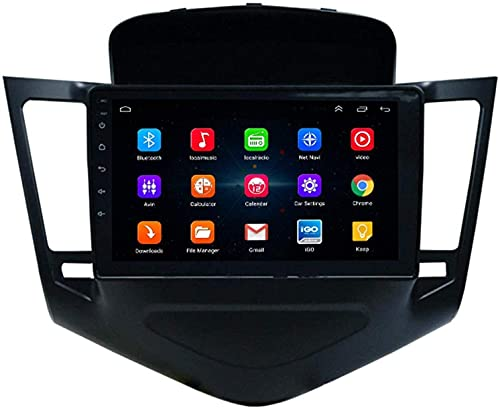 Hesolo Il Lettore multimediale Stereo per Auto di Navigazione GPS per Auto è Adatto Compatibile per Chevrolet Cruze Navigator Smart Android Big Screen Reverse Video Integrato Macchina