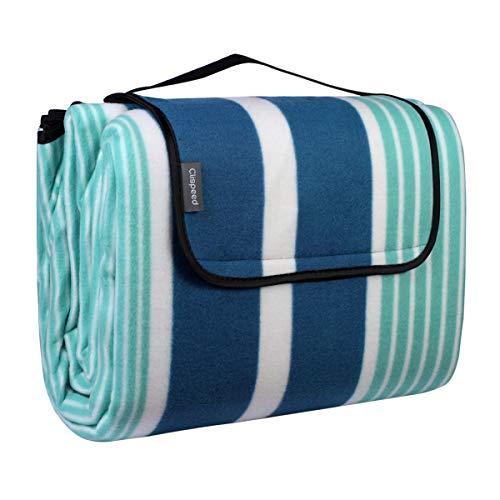 CLISPEED Wasserdichte Decke, extra große strapazierfähige Matte für Picknick, Camping, Wandern, Strand, Outdoor-Reisen, tragbar mit Tragetasche, 200 x 200 cm