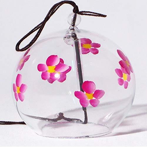 Japonais Carillon éolien en verre faite main avec Motif Sakura