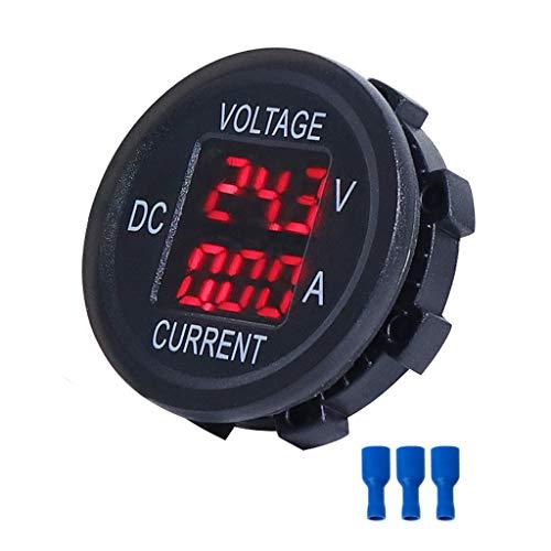 ZHOUMO Universal DC 9V bis 48V 10A Digital Voltmeter Amperemeter Spannungsstrommesser Messung LED Anzeige für 12V 24V 36V Elektrofahrrad Motorrad Auto LKW (Rot)