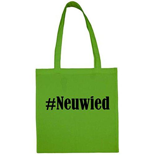 Tasche #Neuwied Größe 38x42 Farbe Grün Druck Schwarz