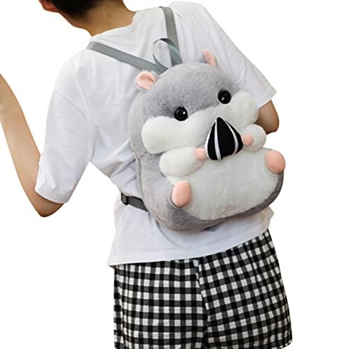 Kinderrucksack Kinder Kleinkind Tasche Hamster Rucksack Plüsch Tasche mit Decke Tier Cartoon Tasche Anime Spielzeug Puppe Tasche Umhängetaschen
