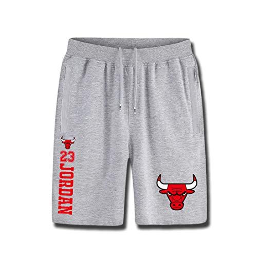 HYF Bull Jordan No. 23 Shorts in Cotone Summer Basketball Shorts Traspiranti Uomo