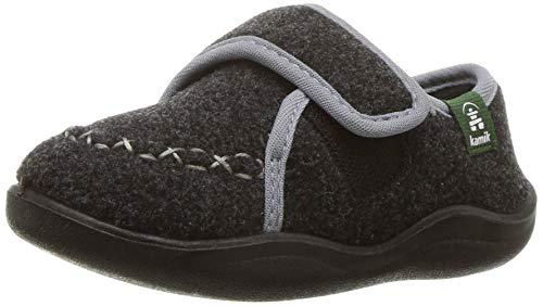 Kamik Unisex-Baby COZYLODGE Slipper, Black/Charcoal, 9 Medium US Toddler