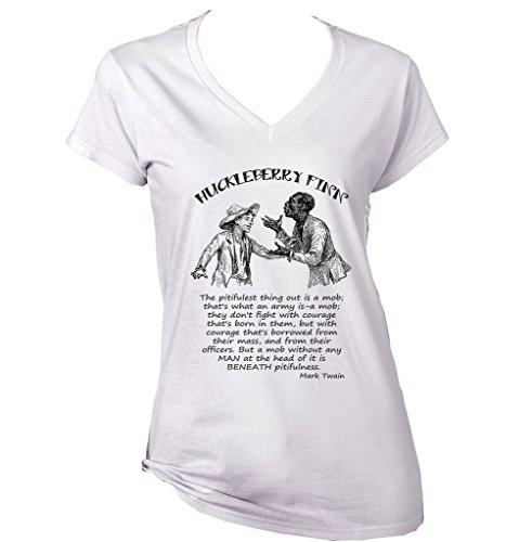teesquare1st HUCLEBERRY Finn Mark Twain Camiseta para Mujer de Algodon Size Small
