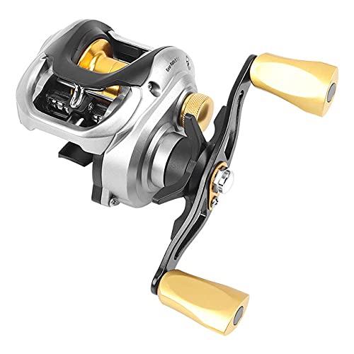 Rcherish Carretes de Pesca, Freno de Engranajes Mango Derecho Casting Magnético Carrete de Pesca para al Aire Libre para Lago,Left Handed