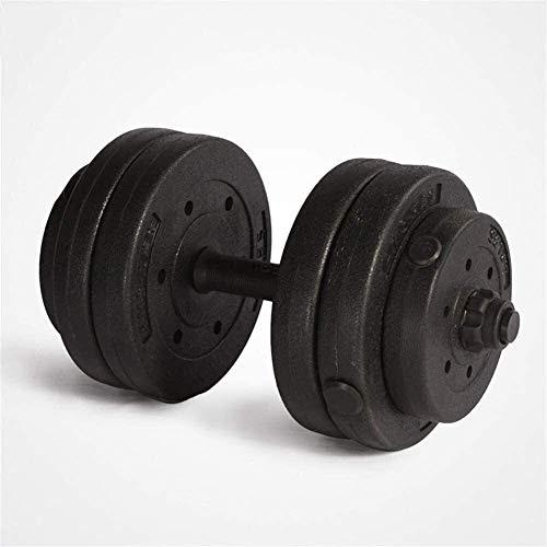 FGVDJ Pesas de Gimnasia Suge Juego de Mancuernas Gimnasio Ajustable Bíceps Entrenamiento con Pesas Hogar -20 kg Equipo de Entrenamiento de Brazos con Barra Fitness Ju ⭐