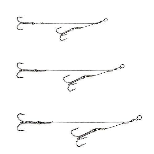 Extreme 3 STK Stinger Vorfächer Raubfisch System (3 STK - Gr. 1/0 2/0 3/0)