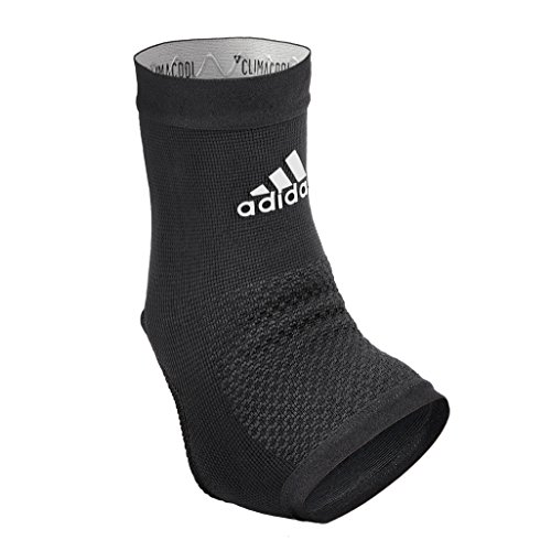 'Adidas Performance Climacool Ankle Compression Sleeve Support with Moisture Wicking Technology, Black, Size Large'