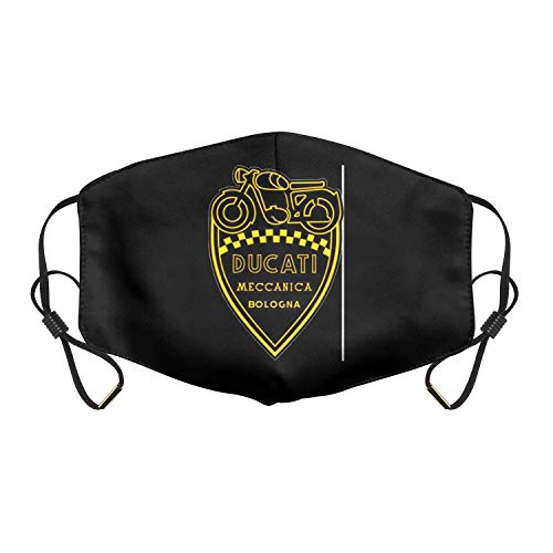 Yaxinduobao Ducati Masken, Face Cover Herren Damen Face Cover Ducati-Paso-Rot-Logo-Scrambler-Gesicht Ma-Sk mit verstellbaren Ohrschlaufen