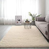 ラグ カーペット 長方 形,For リビングや寝室 ベッドルーム・シェッド カーペット,極厚 ソフトスリップ 簡単に清掃 カーペット,ふわふわ 居心地 ラグ-ライトイエロー. 100x200cm