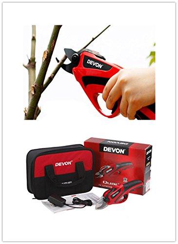 Tijeras de podar con batería litio recargable, inalámbricas, para podar y recortar jardines, árboles, flores o bonsáis