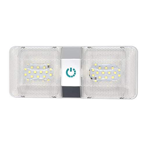 BLEUNUIT Luz LED única, 12V LED Luz de Techo para Caravana Luz de Techo para Caravana Iluminación Interior Luces de Remolque para Autocaravana