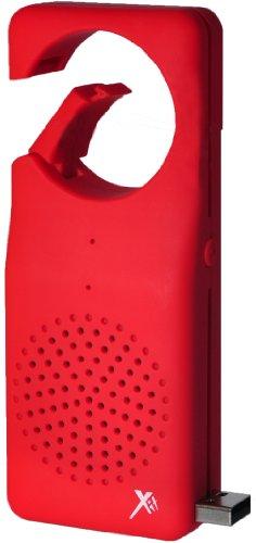 Xit AXTCXLR Bluetooth Clip XL Speaker, Red