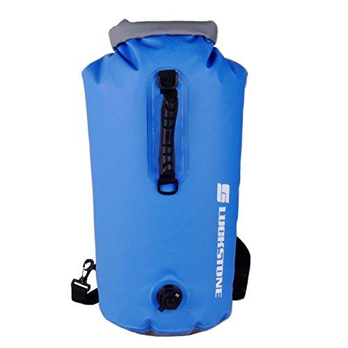 Prom-near 60L wasserdichte Tasche, Driftender aufblasbarer wasserdichter Taschen-Rucksack im Freien geeignet zum Kajak-, Boot-, Kanufahren/Angeln/Rafting/Schwimmen/Camping/Snowboarden (B)
