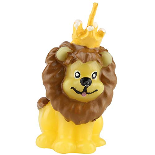 Fishlor Candela Carina, Simpatico Animale Lion Candle Wax Wedding Birthday Cake Decor Ornament, Candele di Compleanno, Candela