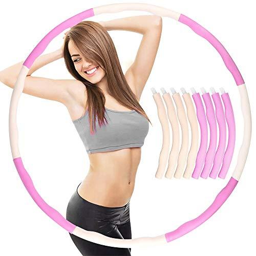WXH-00 Hula-Hoop 8-§ Abnehmbarer Gewichtetes Hula-Hoop-Einstellbarer Durchmesser-Schaumstoffgefüllte Fitness-Übung, Um Gewicht Zu Verlieren Und Headband Gesund Zu Halten
