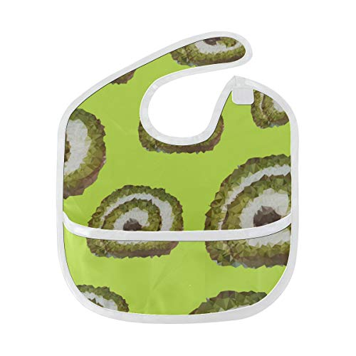 N\A Grands bavoirs pour filles Fresh Delicious Green Dessert Matcha Bib Feeding Soft Stain Baby Feeding Dribble Drool Bibs Burp For Infant 6-24 months