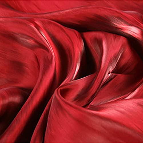 XiaoLong Tela De Raso Tela SatéN Vestidos 145 cm De Ancho por Metros para Costura ElaboracióN De Ropa Ideal para Elaborar Vestidos para Bodas Graduaciones Raso(Size:1.45 * 15m,Color:Vino Tinto)